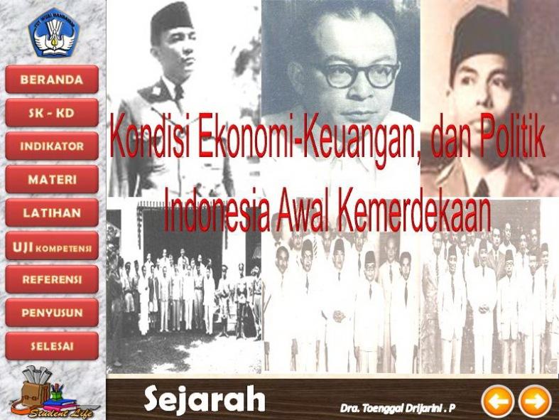 Kondisi Ekonomi-Keuangan dan politik Indonesia Awal Kemerdekaan